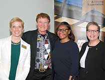 Gretchen Wood Danny Wegman Ayriona Winston and Anne Kress