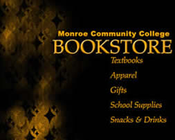 MCC Bookstore graphic with listing of what is sold in the store