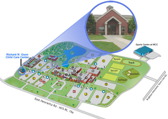 Map of Brighton Campus