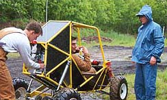 Students with their Baja Car