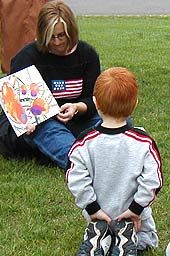 Photo of reading to a child