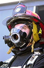 photo of a fireman's face