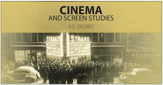 Cinema and Screen Studies - A.S. Degree