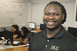 Photo of Michael J. Johnson, professor and counselor in Damon City Campus Student Services