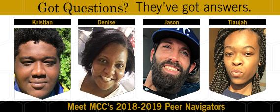 Meet MCC's 2018-2019 Peer Navigators