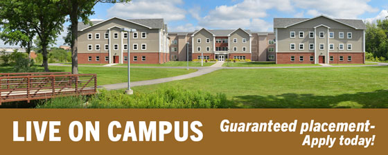 Live on campus- Guaranteed placement-Apply for housing by June 1