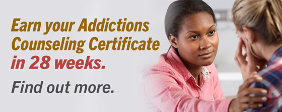 Addictions Counseling Accelerated Certificate.