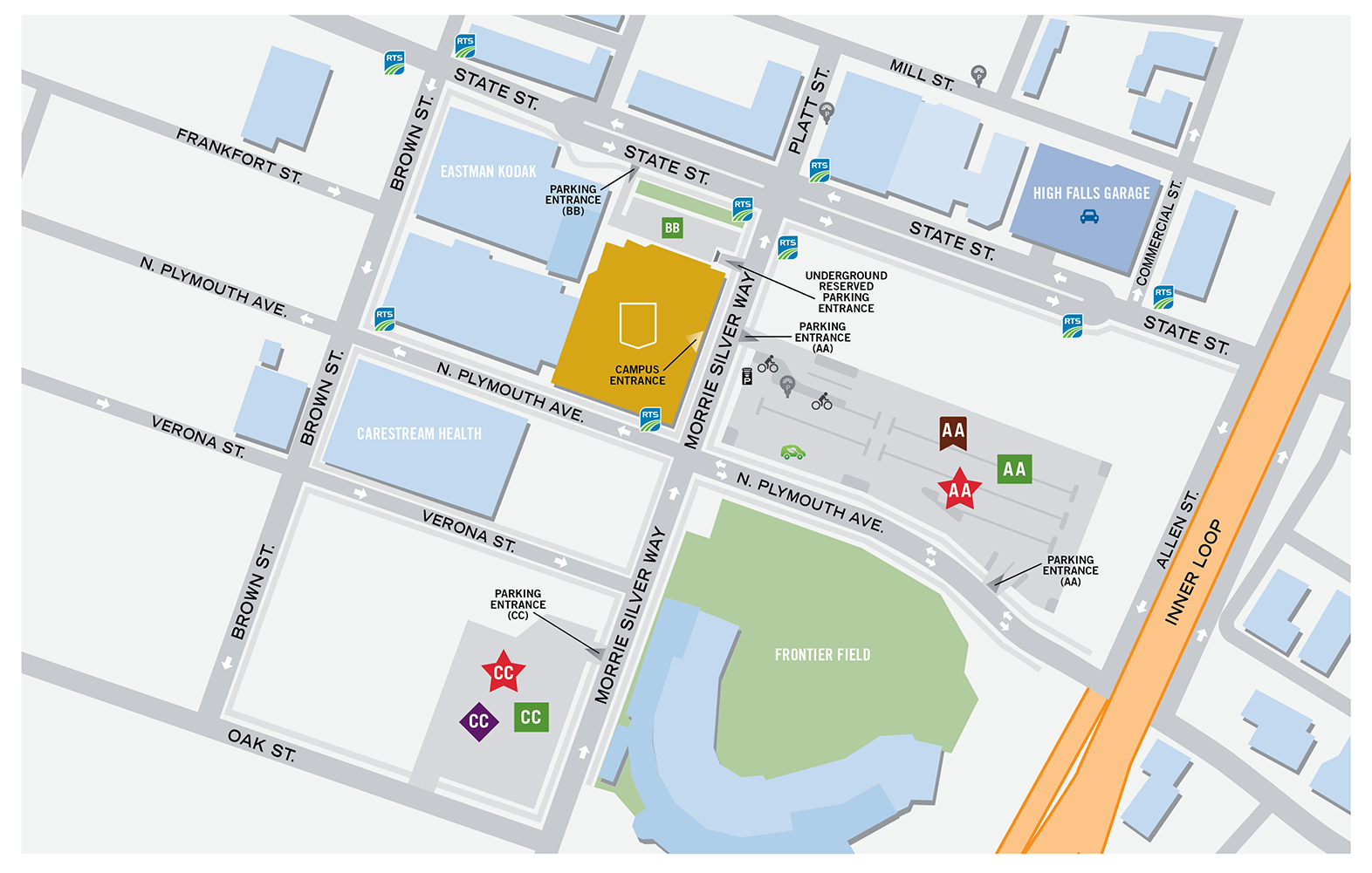 Downtown Campus map