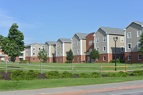 view of residence halls