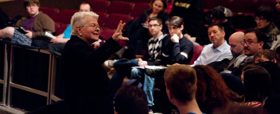 Photo of Paula Vogel, visiting Playwright