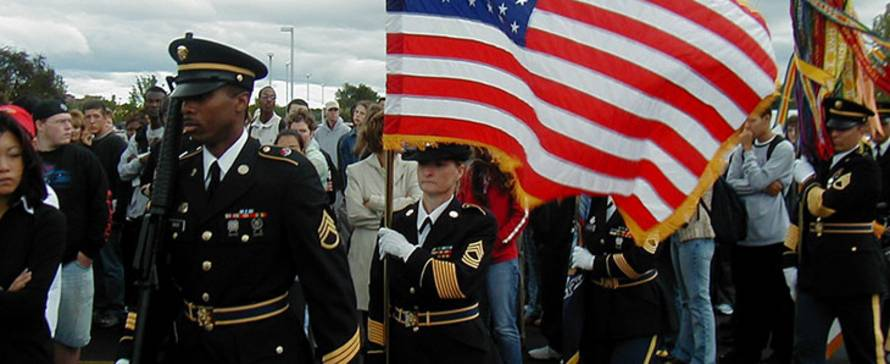 Photo of color guard.