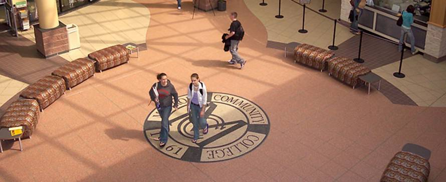 Photo of students in the Brighton campus center