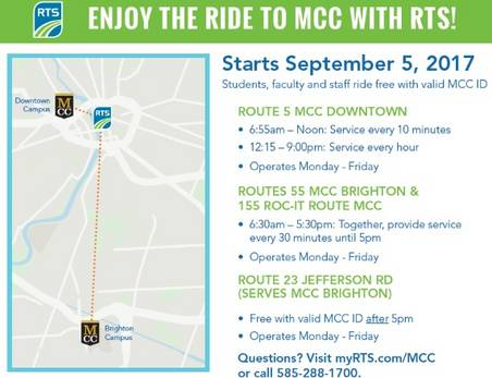 Enjoy the ride to MCC with RTS!
