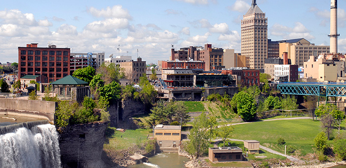 Photo of downtown Rochester, NY.